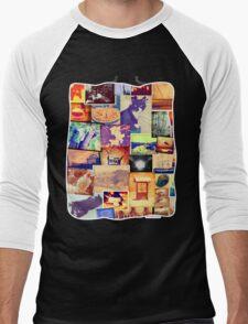 Fun Photo Collage Men's Baseball ¾ T-Shirt