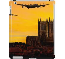 Two Lancasters over Lincoln cathedral iPad Case/Skin