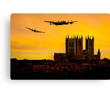 Two Lancasters over Lincoln cathedral Canvas Print