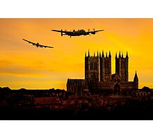 Two Lancasters over Lincoln cathedral Photographic Print