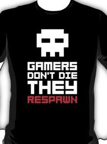 Pixel Skull Gamers Don't Die T-Shirt