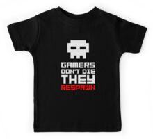 Pixel Skull Gamers Don't Die Kids Tee
