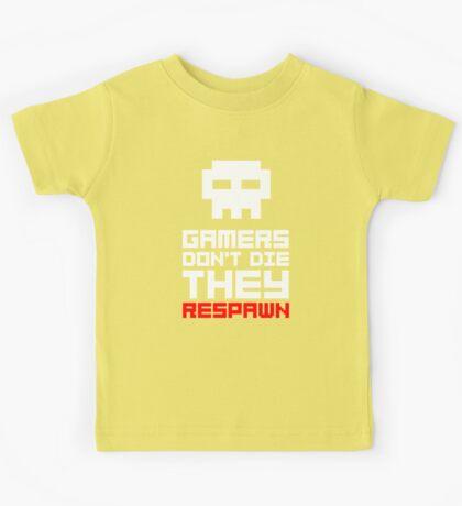 Pixel Skull Gamers Don't Die Kids Tee