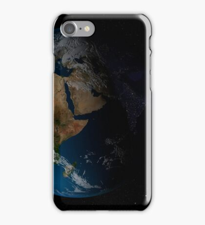 Full Earth showing simulated clouds over Africa. iPhone Case/Skin