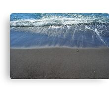 Waves at the beach on the sea shore Canvas Print