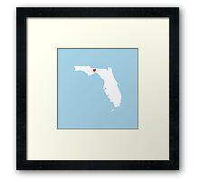 Florida Love Framed Print