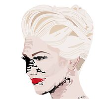 Melted Gwen Stefani Photographic Print