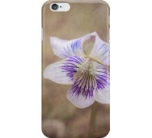 Wild Violet Purple and White Botanical Nature iPhone Case/Skin