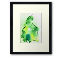 Abstract Pear Framed Print