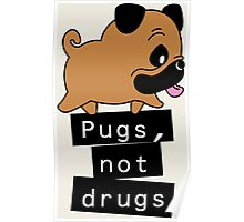Little Pugs Not Drugs Poster
