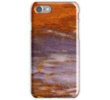 Red Sky Over Mountain Abstract iPhone Case/Skin