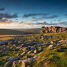 Sunset at Great Staple Tor by Pete Latham