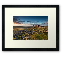 Sunset at Great Staple Tor Framed Print