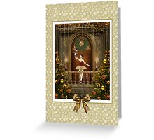 Dancing Ballerina with Nutcracker Card Greeting Card