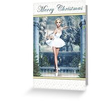 Snow Princess Ballerina Card Greeting Card