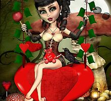 Candy Apple Love Greeting Card by xgdesignsnyc