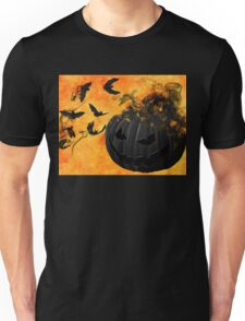 Pumpkin and Bats Unisex T-Shirt