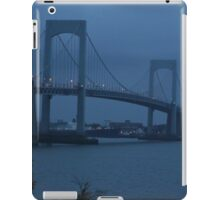 Before the Dawn on a Rainy Day at the Throgs Neck Bridge iPad Case/Skin