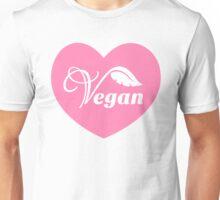 Pink Vegan Heart Unisex T-Shirt