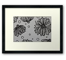 Flowers and Spots Framed Print