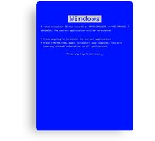 BSOD (Blue Screen of Death) Windows shirt Canvas Print