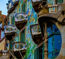 Casa Batllo by Gaudi in Barcelona by Luke Farmer