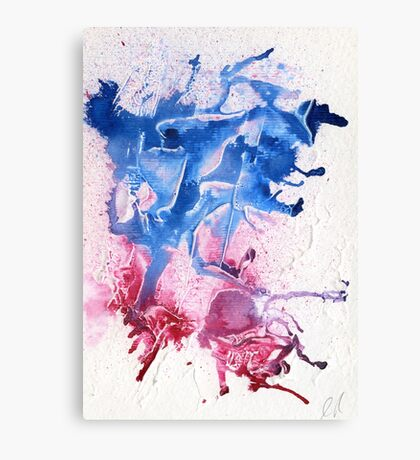 Blue and pink abstract  Canvas Print