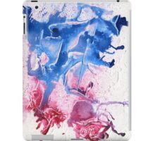 Blue and pink abstract  iPad Case/Skin