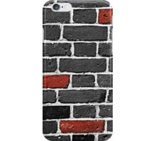 Red and Monochrome Bricks iPhone Case/Skin