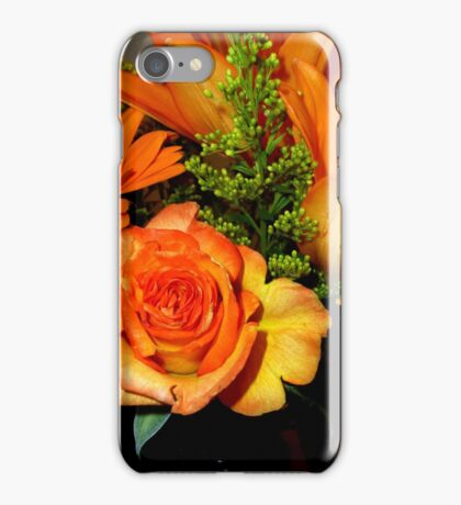 ENCHANTED ORANGE FLOWERS - ROSE-LILIES-GERBERA - Photography iPhone Case/Skin