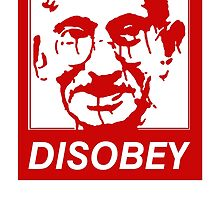 Gandhi DISOBEY (red) by tinaodarby