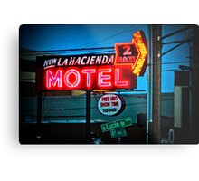 Motel Inn Color Metal Print