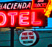 Motel Inn Color Sticker
