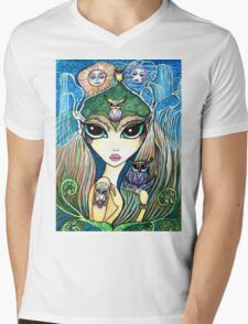 Owlete The Owl Queen, by Sheridon Rayment Mens V-Neck T-Shirt