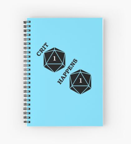 Dungeons and Dragons: Crit Happens Spiral Notebook