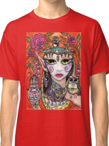 Gypsy Art Owl Oracle by Sheridon Rayment Classic T-Shirt
