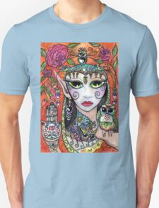 Gypsy Art Owl Oracle by Sheridon Rayment Unisex T-Shirt