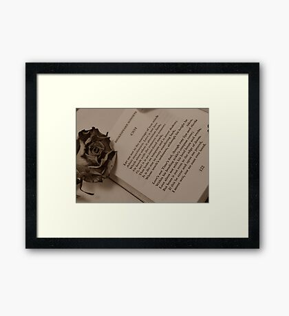 Love's Not Time's Fool... Framed Print