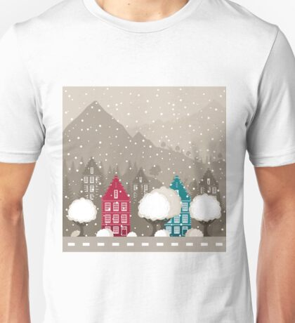 City in mountains Unisex T-Shirt