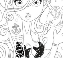 Tatted Mermaid Sticker