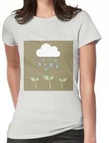 Cloud and dollar Womens Fitted T-Shirt