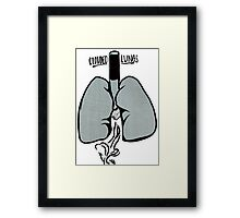 Clouded Lungs Framed Print