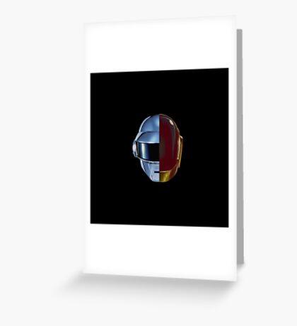 Daft Punk helmets Greeting Card