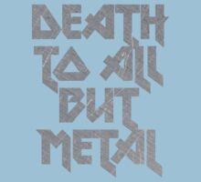 Death to All But Metal Baby Tee