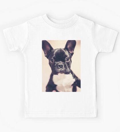 Cute puppy portrait Kids Tee