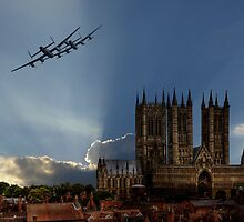 Lancasters over Lincoln by AviationPrints