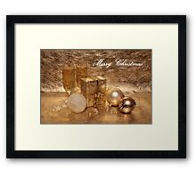 Merry Christmas in Gold Framed Print