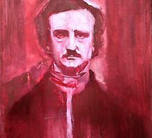 Edgar Allan Poe Painting. by William Wright