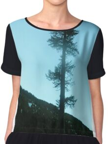 Earth Mother Tree Chiffon Top