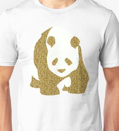 Golden glitter panda Unisex T-Shirt